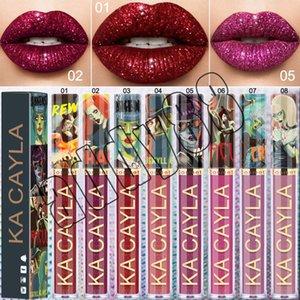 KA CAYLA Cosméticos Brillo de labios con brillos de labios de metal Brillo de labios metálico Brillo labial metálico 8 colores Cosméticos para labios