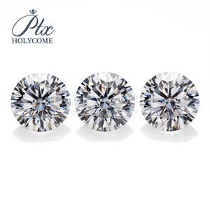Holycome moissanite Em bruto Matéria Prima 10Herats 10 Árvores DEF Branco VVS Rodada 6.5mm Loose Gemstone moissanite Diamante Atacado