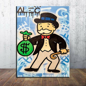 Alec Monopoly Graffiti Monopoly man Home Decor Handpainted &HD Print Oil Painting On Canvas Wall Art Canvas Pictures 200526