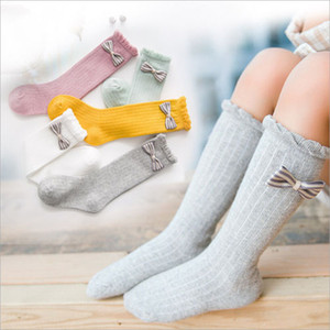 Emmababy Adorable Hot New Fashion Kid Girl Classic Cotton Soft School Knee-high Stockings Pile Leggings