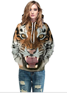 2019 FREE SHIPPING Tiger 3D Digital Printing Hoodies Sweatshirts Hoodies Sweatshirt Lovers'Hoodies & Sweatshirts Clothes