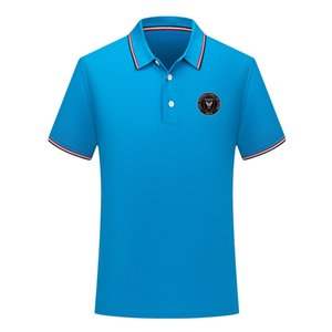 2020 Inter Miami CF Men's new casual football POLOS shirt short sleeve lapel polo soccer polo shirt Men's training jersey Polos shirt