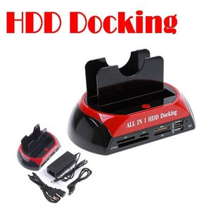 "5pcs 2.5 ""/3.5"" SATA / IDE2 all-in-one-Docking HDD Docking Station e-SATA / Hub Externe Speichergehäuse Teile"