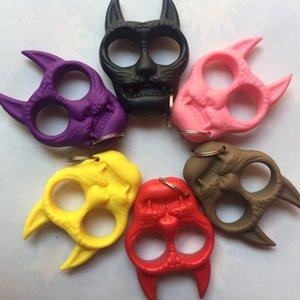 Mini Plastic Tiger Head Autodifesa Ciondolo Chiave a sospensione per le donne Ragazza Autodifesa Portachiavi a mano Fibbia A Mano Borse Car Sacchi Keychains gioielli regalo