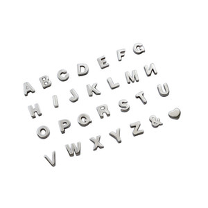 Authentic 925 Sterling Silver Initial Alphabet Letter A-Z Bead Fit Pendants Necklaces Charms Bracelet for Women Diy Jewelry Making