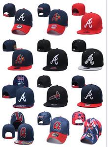 New Arrival quente dos homens da forma do esporte Braves Baseball Snapback Cap All Equipe Inverno Beanie Chapéus Cap Knit Cuffed Skullies Pom Uma Tamanhos Embroide