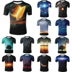 Short Sleeve O-Collo degli uomini di Galaxy 3D Space Nebula Stampa T-shirt da donna Top US