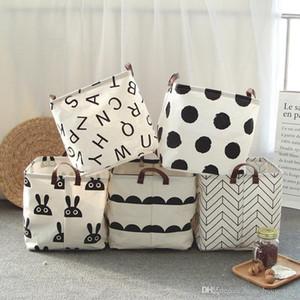2020 nouveaux vêtements de stockage Bucket 6 Styles Folding panier à linge pour enfants Jouets Mêle stockage Barrel Pliable blanchisserie Organisateur Porte-Box