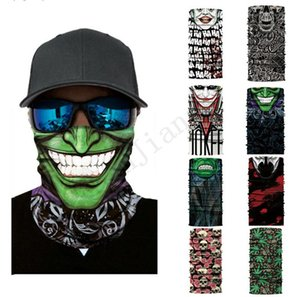 Máscaras deporte al aire libre Ciclismo Pañuelo de cabeza inconsútil de múltiples funciones de la motocicleta de la bufanda de Sun del verano mask regalos al aire libre del pañuelo bufandas e3204
