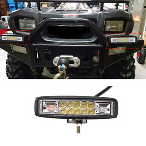 4800LM Mini 6 pouces 48W voiture LED Light Bar comme Worklight rouge bleu clignotant pour nautique Chasse Pêche chariot élévateur à fourche