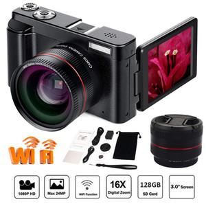 """와이드 앵글 렌즈 32 기가 바이트 SD 카드, 3.0 """"ScreenWiFi 기능 1PCS DHL와 디지털 카메라 비디오 캠코더 풀 HD 1080p의 24.0MP 카메라"""