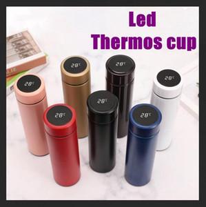 Bottiglia d'acqua DHL schermo bollitore Thermo Cup LCD Touch con il regalo della tazza intelligente tazza dell'esposizione di temperatura in acciaio inox vuoto