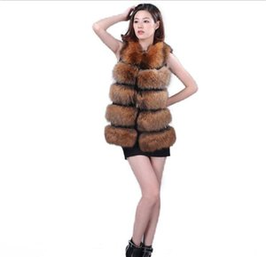 Furry Gilet Female 2019 Luxurious Winter Furry Long Faux Fur Coat For Women Waistcoat Faux Fur Jackets For Women Faux Fur vest