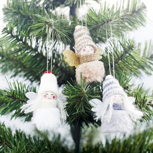 Mignon arbre de Noël Décorations Pendentif Mini peluche en peluche Poupée Angle suspendu Ornement de Noël Décorations de Noël 4 Styles WX9-1661