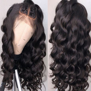 Pre Plucked Silk Top Lace Frontal Wig Loose Wave Peruvian Virgin Hair Silk Top Glueless Full Lace Front Wig with Baby Hair