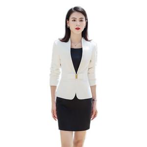 Bayanlar Akşam Şık Kostümler Ceket Kadın Elbise Takım Elbise Takım Office Aşınma Work ile Kahverengi Örgün Elbise Blazer Kadınlar Elbiseler