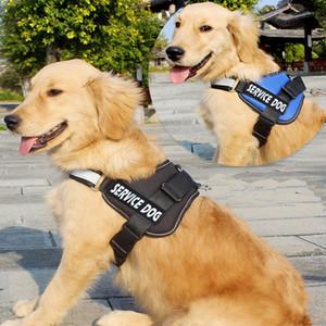 Küçük Büyük Köpekler Evcil Malzemeleri Koşu Yürüyüş için Köpek Harness Servis Köpek Yansıtıcı Harness Ayarlanabilir Naylon Yaka Yelek