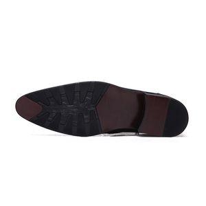 Handmade Мужчины Формальная Ботильоны из натуральной кожи острым носом Высокие каблуки Side Zip Boots Мода Свадьба платье обувь 37-44