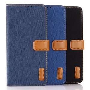For Samsung S20 A71 A51 Note 10 Pro S10 S10e S9 Jean Cloth Cowboy Leather Wallet Case Hybrid Hit Color PC Canvas ID Card Stand Book Cover