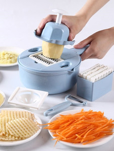 Kitchen multi-function Nicer shredder potato cutter potato chip slicer silk radish grater Dicer fruit cutting board kitchengadget Quick