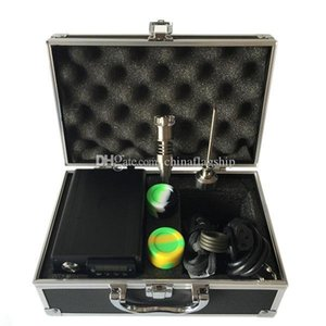 DHL free Aluminum box packing E Digital Nail Kit with upgrade Titanium Quartz Hybrid Nails Fit Heater Coils for oil rigs glass bong