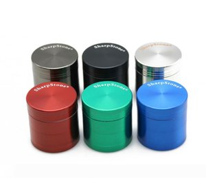 Sharpstone Grinder Herb Zinc Alloy Tobacco Herbal Grinders 4 Layers 50mm Dry Herb Vaporizer CNC Teeth Filter Random 50mm Towel