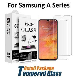 Vidrio templado para Samsung M10 M20 M30 A10 A10E A20 A20E A2 Core A30 A40 A40S A50 A60 A70 A80 A90 Protector de pantalla