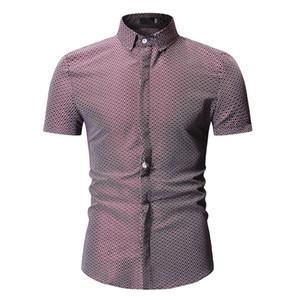 YASUGUOJI New 2019 Été À Manches Courtes Chemise Pour Hommes Casual Hommes Hawaiian Chemise Bureau Chemises Hommes Formelle Robe Chemises