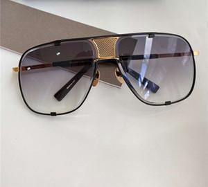 Квадратные Солнцезащитные очки 2087 Золото Черный Серый Gradient Lens 64mm Gafas де золь унисекс Солнцезащитные очки Негабаритные очки с коробкой