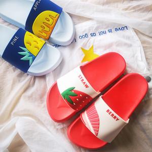 Les femmes d'été Pantoufles Fruits mignon pastèque fraise molle Sole Plage Slides Intérieur Extérieur Chaussons Sandales Chaussures Femme