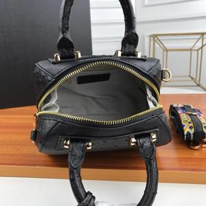 di alta qualità della borsa della borsa di lusso borse Designer- Y borsa modello struzzo cuoio genuino delle donne di stile Boston