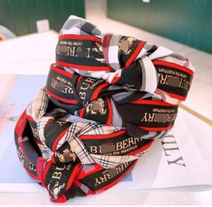Kore Moda Letter Dantel Katı Knot Bezel Turban Kızlar Şapkalar Kafa Kadınlar Hairband Bayanlar Kaymaz Saç Aksesuarları