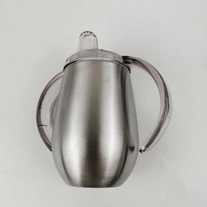 Bicchiere da 12 once in acciaio inossidabile con coppa per acqua Sippy Bicchiere da 12 once con manici Sono disponibili vari colori