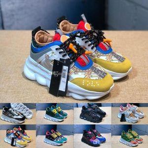Sale Hot Chain Reaction Luxus Designer Sneakers Herren kettengebundene Trainer Lightweight Womens Outdoor Runner Lovers Freizeitschuhe