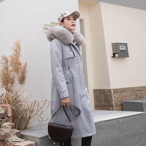 Real 2020 Clothes Fur Parka Warm Winter Coat Women Manteau Femme PKF22004C YY2089