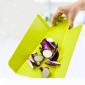 B PP Foldable Chopping Block Fruit Meat Vegetable Kitchen Rectangle Plastic Cutting Boards Practical Colorful Cooking Tools 3 Colors