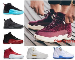YENİ ucuz 12 XII Erkek Basketbol Ayakkabı Sneakers 12s Taksi Playoff Gama Mavi Gri Spor ABD 5,5-13 erkekler için Ayakkabı Koşu