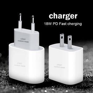 Подходит для iPhone 11 по USB заряжатель стены c 18W сила передачи ПД быстрое зарядное устройство адаптер тип C быстрое зарядное устройство кабель для зарядки