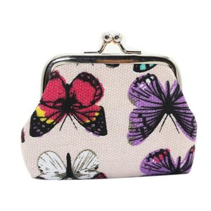 Carteira Hot Selling Womens borboleta pequeno Coin Purse Clutch Mulheres saco mini-bolsas monederos