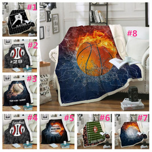 Baseball Blankets 150 * 130cm Softball-Fußball-Fußball-Blanket 3D Printed Swaddling Handtuch Sport Teppich Sofa Decke T2I5167