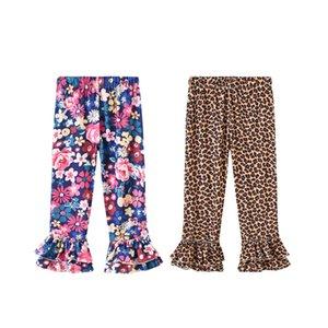 Nuovo neonate leopardo stampata floreale Pantaloni Flare Flare bambini Fiore Pantaloni Flower Girl Leggings Estate Bambini Abbigliamento casual M1486