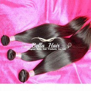 Bellahair Unprocessed Virgin Human Hair Bundles Brazilian Indian Malaysian Peruvian Hair Extensions Weft Silky Straight Hair Weaves 3PCS 9A