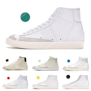 Nike SB Zoom Blazer Mid 77 Edge-Damenschuhe Herren Blazer Hack-Pack weiß midnight navy femmes zapatos size36-45