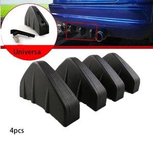 xterior Accessori Adesivi auto 4pc auto universale modificato paraurti posteriore Diffusore stampato pinna di squalo paraurti telaio decorativo insta ...