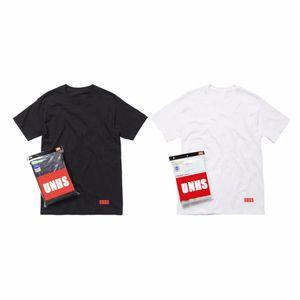 heißen Verkauf 18SS Checker Tagless T UNHS reine Farbe Baumwollunterhemd Damen Herren T-Shirt 3colors Basic Shirt Komfortabel