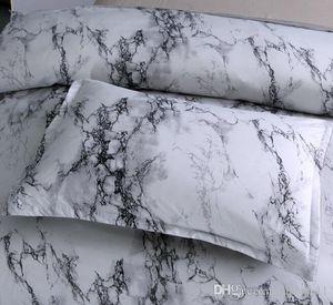 Marble Pattern Bettwäsche-Sets Bettbezug Bett Set Twin Queen Doppelbettbezug Bettwäsche (Kein Blatt Nr Filling)
