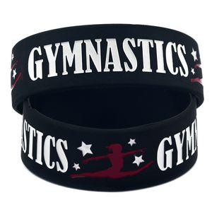 Nouveautés Arrivées gymnastique Bracelets en silicone Pour femmes hommes Lettre Sport Bracelet Jonc 2019 Bijoux de Mode Cadeau en Vrac