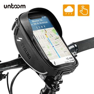 Cheap Phone Holders & Stands Bike Bicycle Phone Mount Bag Waterproof Front Frame Top Tube Handlebar Bag Touch Screen 6.0 inch MTB