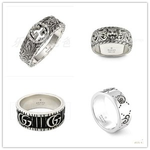 2020 Markalar Erkekler Tasarımcı halka 925 gümüş yüzük kişilik Vintage halkalar Lüks Erkekler Kadınlar takı cazibesi erkek arkadaşı hediyeler