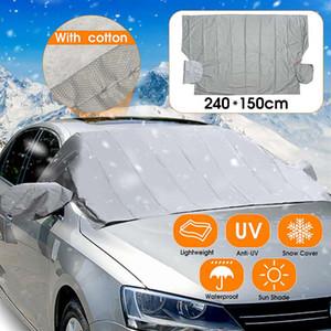 Ayna Koruyucu Car Cover ile 240x140cm Oto Araba Ön Cam Kapak Cam Manyetik Peva Isı Güneş Gölge Karşıtı Kar Buz Shield